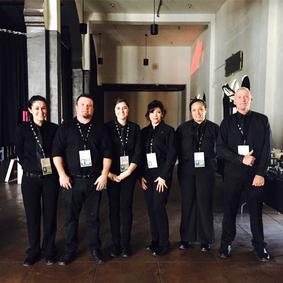 Photo of Rise and Shine Catering's event team.