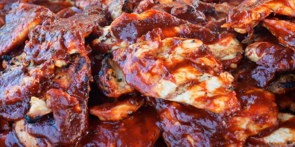 BBQ chicken as part of Rise & Shine's holiday catering service