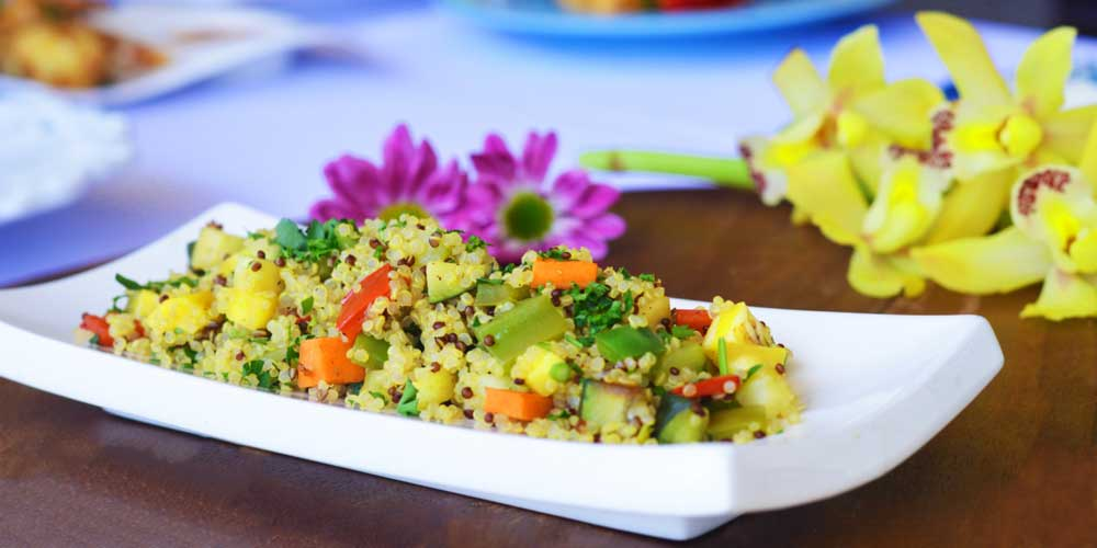 Quinoa dish from Rise & Shine's wedding catering menu