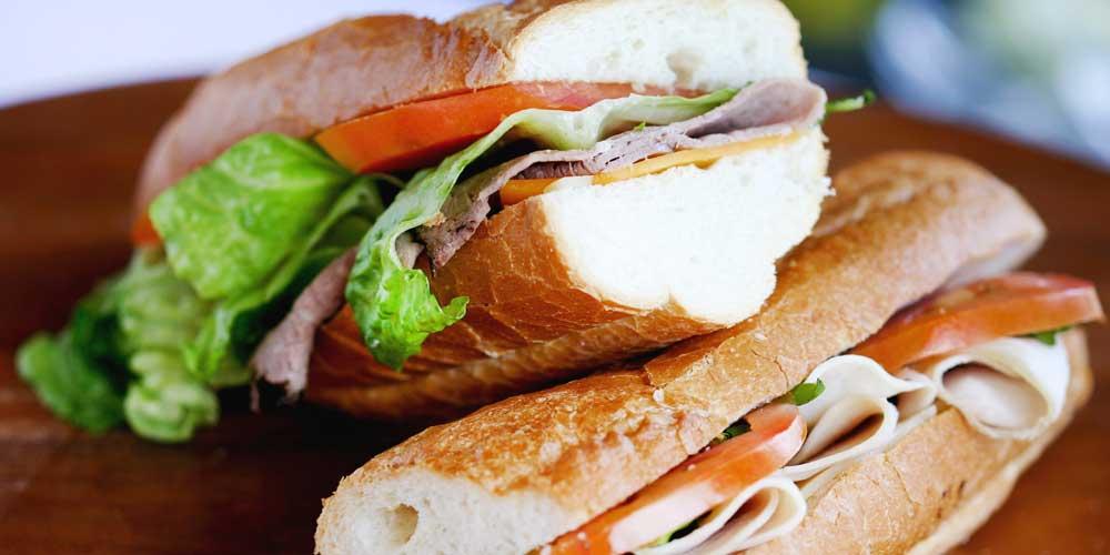 Deli sandwiches four Rise & Shine box lunch